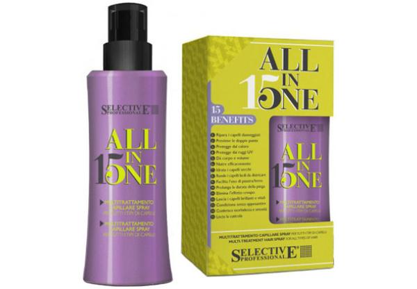Маска-спрей для всех типов волос Selective All in one