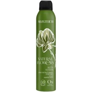 Регенерирующий спрей мгновенного действия Selective Natural Flowers Nutri Keratin