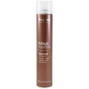 Лак для волос с кератином нормальной фиксации Kapous Magic Keratin