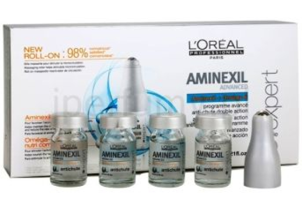 Ампулы против выпадения волос Loreal Aminexil Advanced