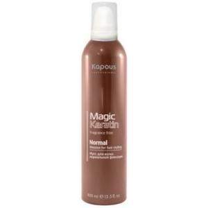 Мусс с кератином для укладки волос нормальной фиксации Kapous Magic Keratin