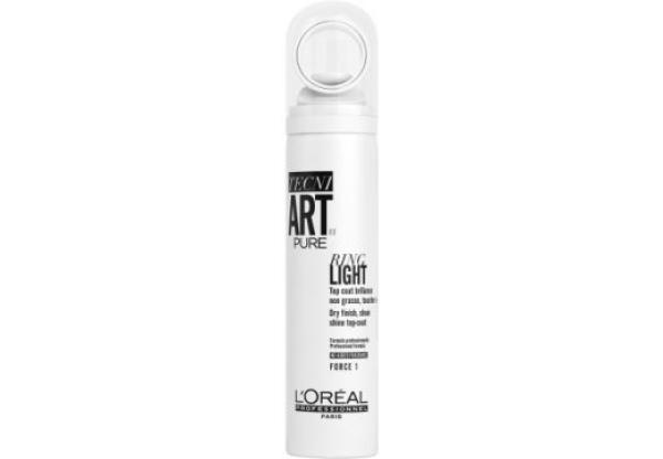 Loreal Спрей для блеска волос. Без запаха. Ring Light Pure Tecni Art